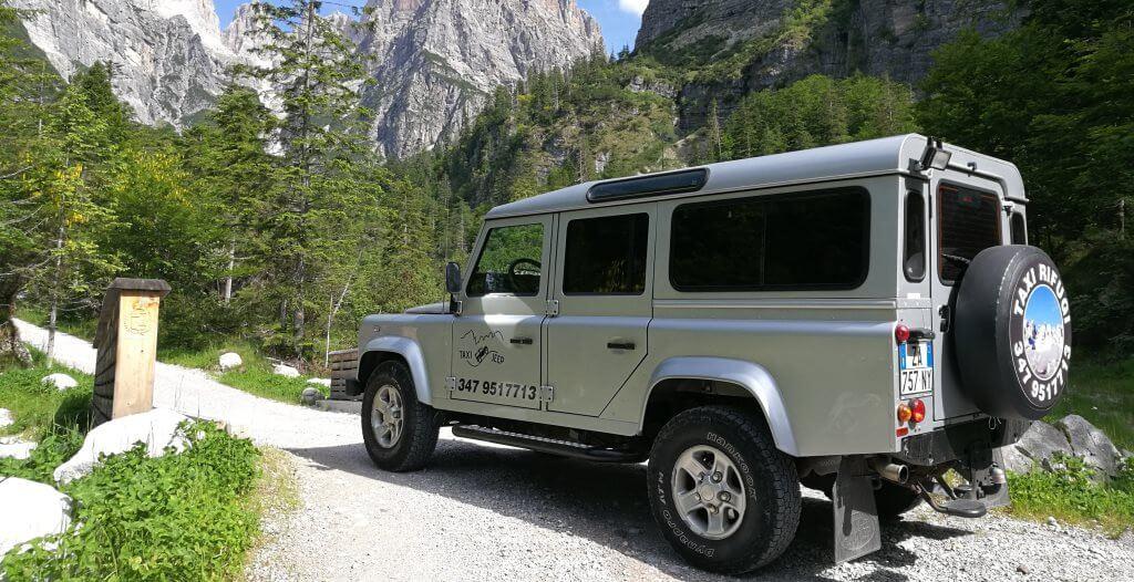 Servizio Taxi Jeep per le Dolomiti di Brenta